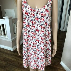 Forever 21,  woman's slip dress.  Floral print. L.